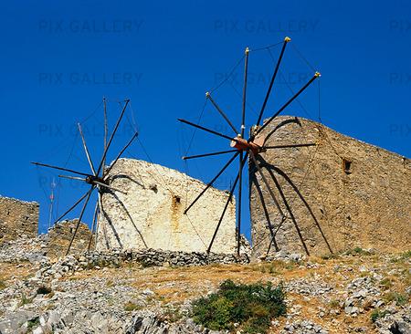 Väderkvarnar, Grekland
