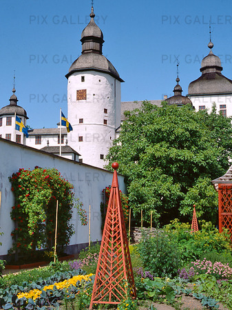 Slottsträdgården på Läckö slott, Västergötland