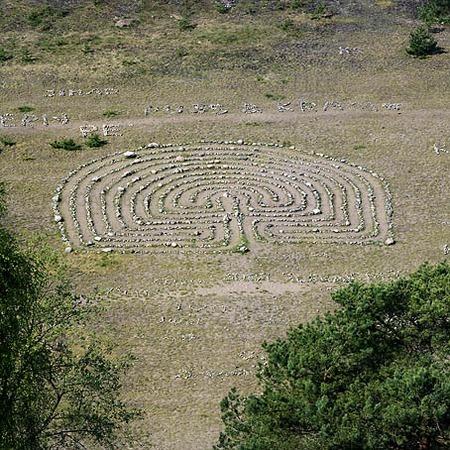 Labyrint  vid Fjärås Bräcka, Halland
