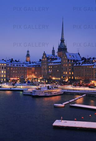 Vinter i Gamla stan, Stockholm