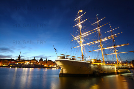 Segelfartyget af Chapman, Stockholm