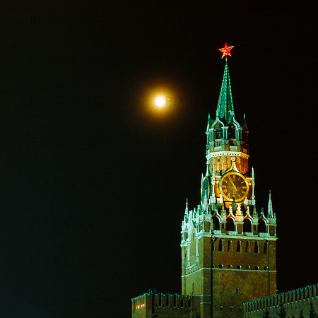 Spasskijtornet in Red Square in Moscow, Russia