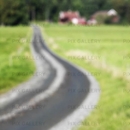 Gravel road in the blur