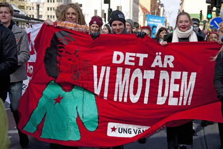 1 Maj demonstration