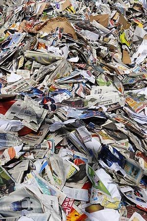 Papper för återvinning