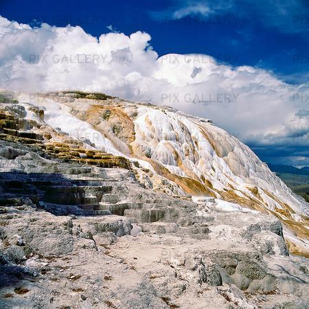 Mammoth Hot Springs i Yellowstone National Park, USA