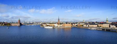 Panorama över Stockholm