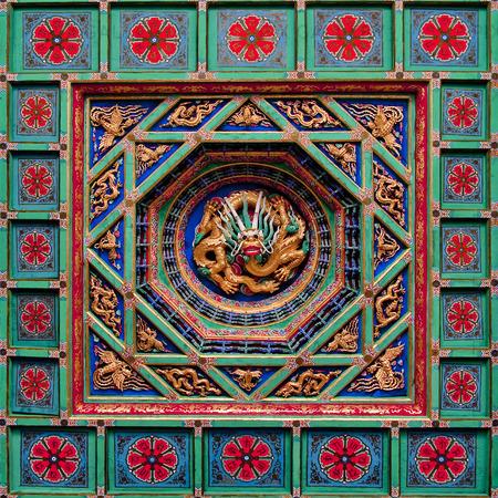 Innertak Miaoying Temple i Beijing, Kina