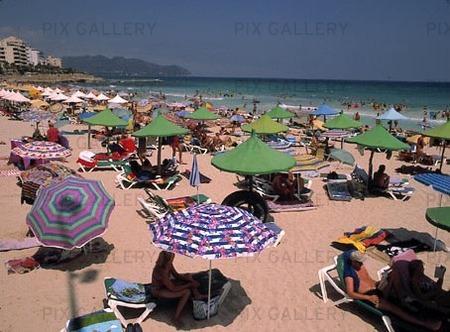 Badstrand på Mallorca, Spanien