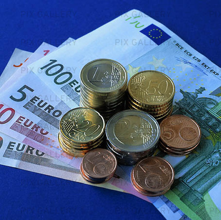 Eurosedlar och mynt