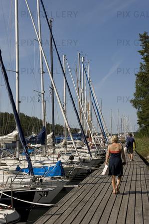 Fritidsbåtar vid Utö, Stockholms skärgård