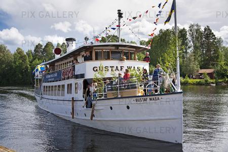Ångbåten Gustaf Wasa, Dalarna