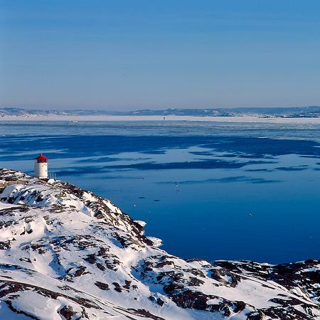 Åstol fyr, Bohuslän vinter