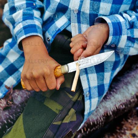 Lapp med kniv, Lappland