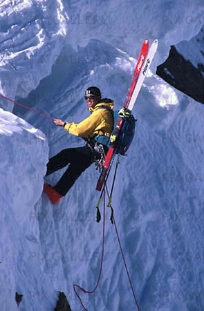 Climbing with skis