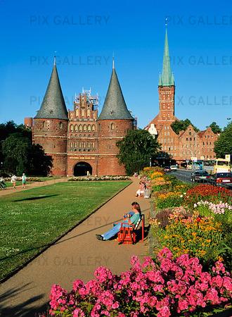 Stadsporten i Lübeck, Tyskland
