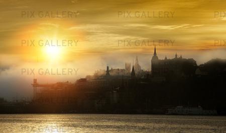 Stockholm tidigt på morgonen