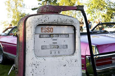 Gammal bensinpump