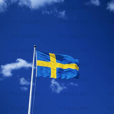 Bild På Svenska Flaggan Kpepyk Royaltyfritt Foto Bildbyrå Pix