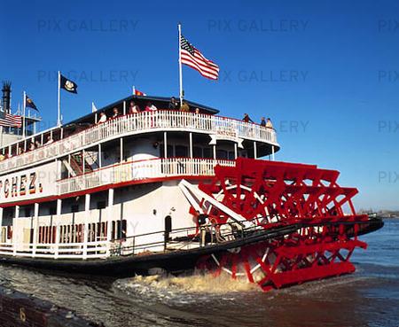 Hjulångare på Mississippi, USA