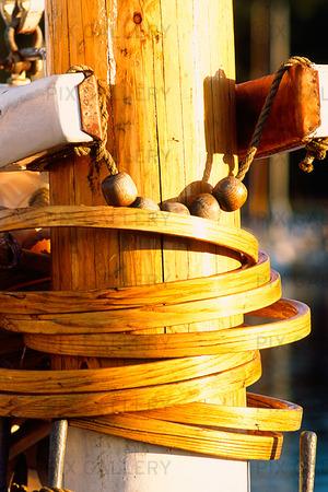 Detalj på segelskepp