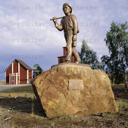 Statue miner, Dalarna