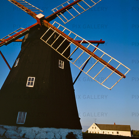 Väderkvarn på Bornholm, Danmark