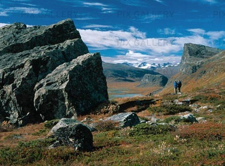 Fjällvandrare i Lappland