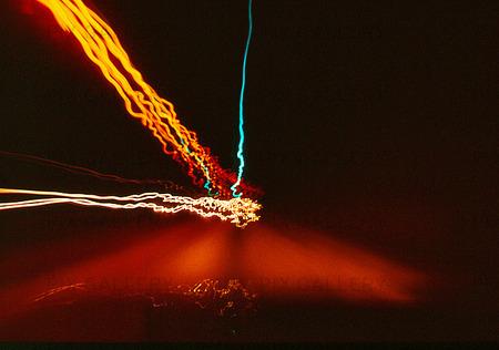 Ljuseffekt, motorväg i natten
