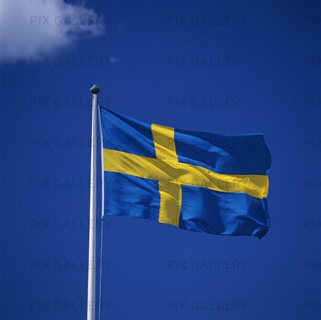 Bild På Svenska Flaggan Mc6spi Royaltyfritt Foto Bildbyrå Pix