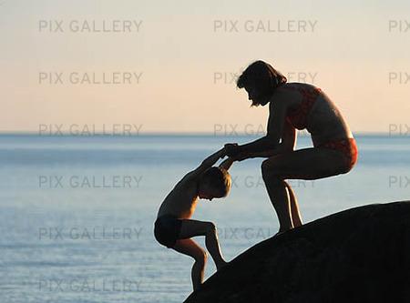 Kvinna och barn