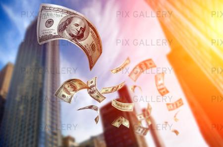 Dollarsedlar som faller
