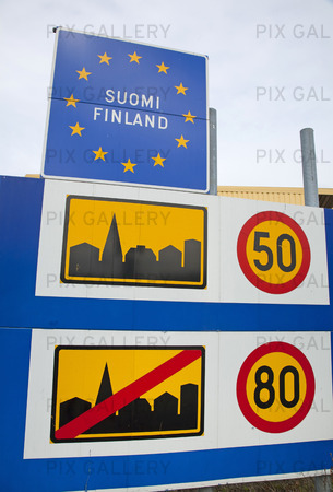 Trafikskylt i Finland