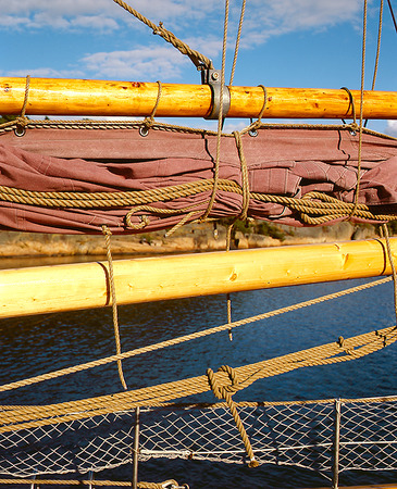 Detalj på segelfartyg