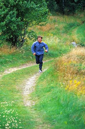 Man som joggar