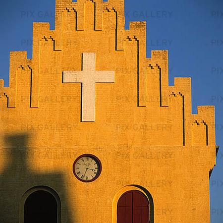 Allinge Kyrka på Bornholm, Danmark