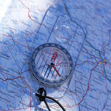 Karta och kompass