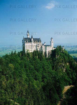 Neuschwanstein i Bayern, Tyskland