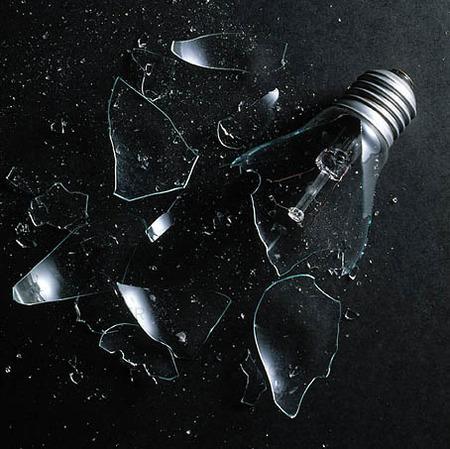 Trasig glödlampa