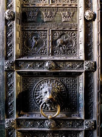 Detalj. Entrédörren. Domkyrkan. Köln. Tyskland