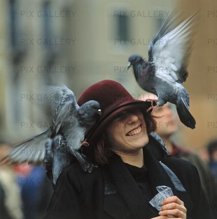 Duvor på kvinna