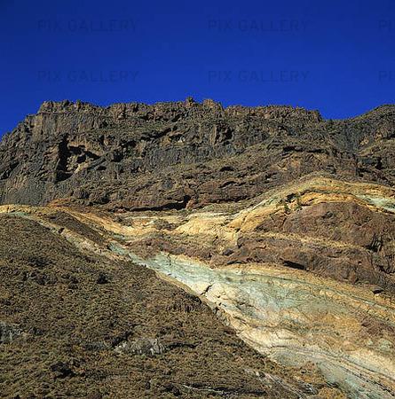 Rock Strata på Gran Canaria, Spanien