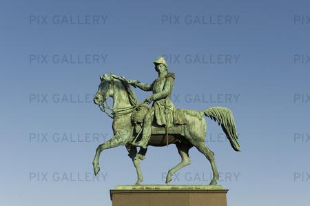 Karl XIV Johans staty i Stockholm
