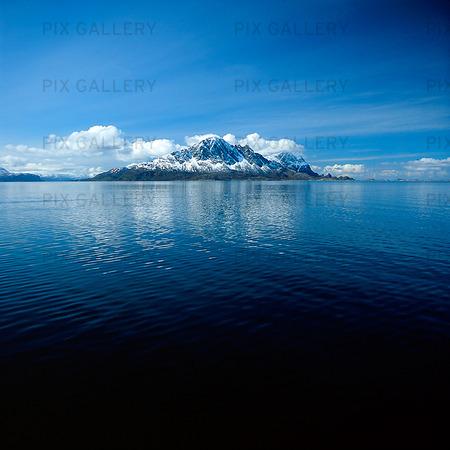 Snöklädda berg, Norge
