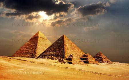 Pyramiderna i Giza, Kairo, Egypten