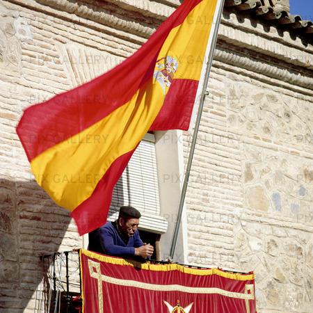 Bild Pa Spaniens Flagga Sdqrjj Rights Managed Foto Bildbyra Pix Gallery