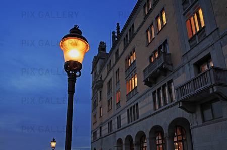 Gatubelysning vid Rosenbad, Stockholm