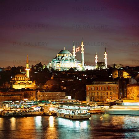 Suleymaniyemoskén i Istanbul, Turkiet