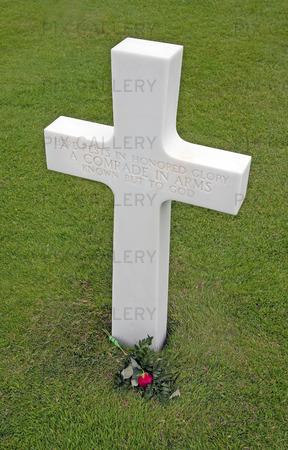 Amerikansk kyrkogård vid Normandie, Frankrike