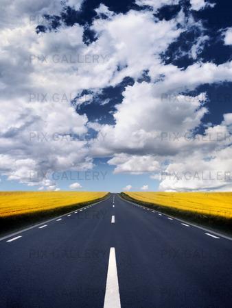 Rak landsväg
